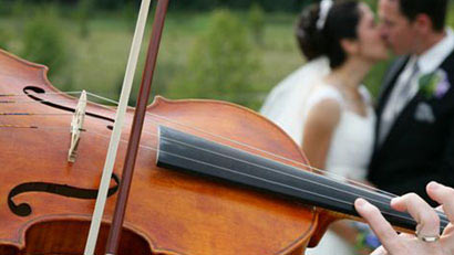wedding greece violin